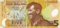 5 новозеландских долларов аверс