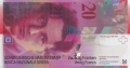20 швейцарских франков аверс