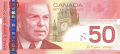 50 канадских долларов аверс
