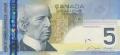 5 канадских долларов аверс