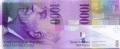 1000 швейцарских франков аверс